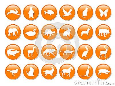 Many orange icons