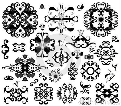 Many ornament elements