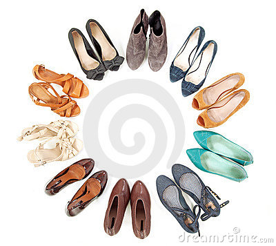 Many pairs of shoes
