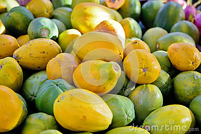 Many papayas