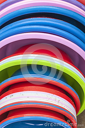 Plastic basins in many colors
