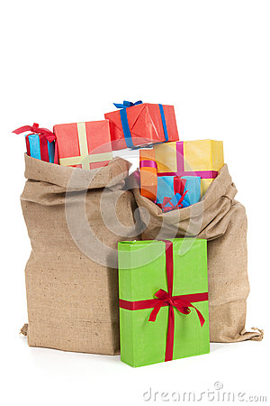 Free Many Presents In Bags Stock Photography - 27263002