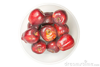 Many red fresh apples