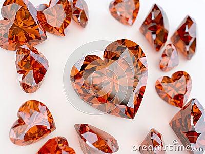 Many ruby hearts