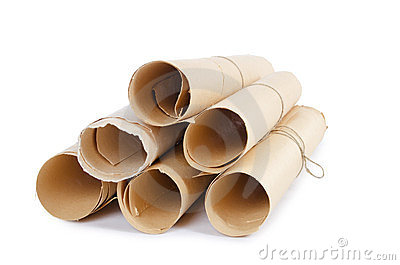 Many scrolls of paper
