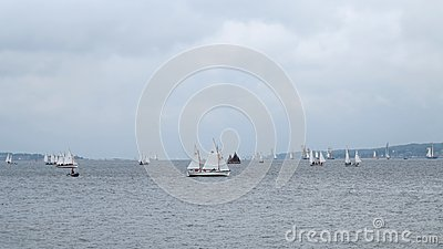 Many small sailboats - kiel - germany - baltic sea Editorial Stock Photo