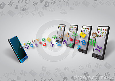 Many smartphones Data and Content Transfer