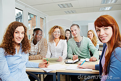 Students in university class