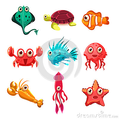 Free Many Species Of Fish And Marine Animal Life Stock Photos - 58894483