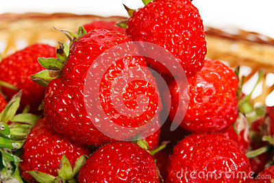 Many strawberries in a basket