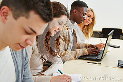 Students learning in lecture