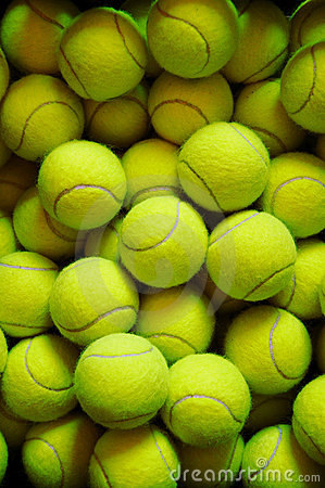 Many tennis balls
