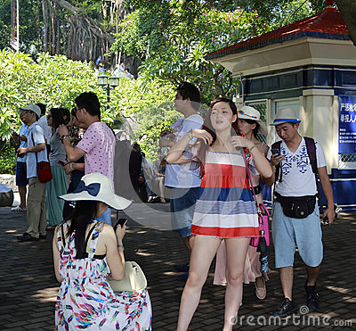 Many tourists Editorial Stock Photo