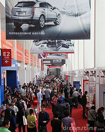 Free Many Visitors At The Auto China 2010 Royalty Free Stock Photography - 14121617