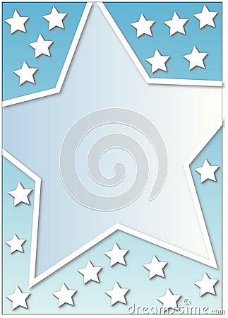 Many white stars