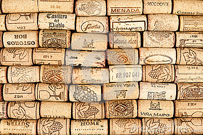 Many wine corks Editorial Stock Image