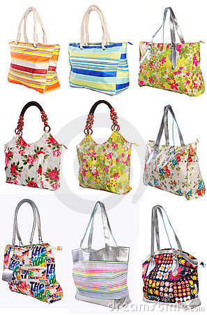 Many womans bags