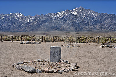 Manzanar Cemetery Editorial Stock Photo