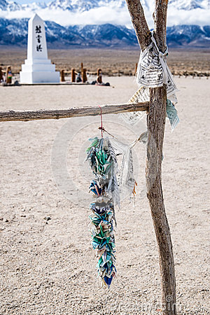 Free Manzanar Memorail And A Thousand Cranes Royalty Free Stock Photos - 39448078