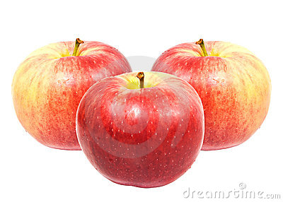 Manzanas dulces rojas