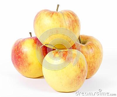Manzanas ecológicas naturales