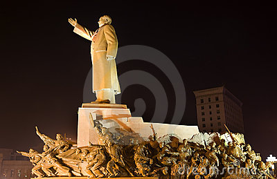Mao Statue With Heroes Zhongshan Shenyang China