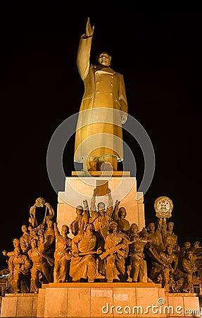 Mao Statue Heroes Zhongshan Square Shenyang China