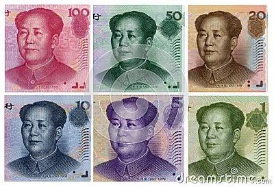 Mao Zedong in Renminbi portrait