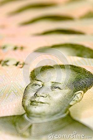 Mao Zedong von einer Banknote