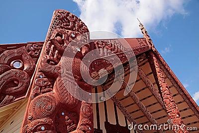 Maori house in Rotorua