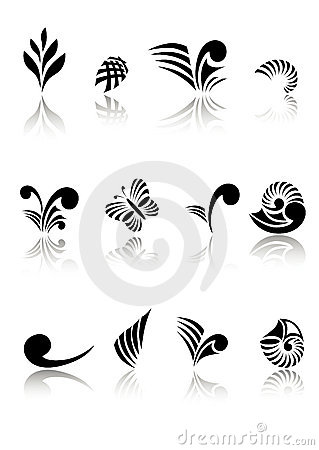 Maori Koru Design Elements Set