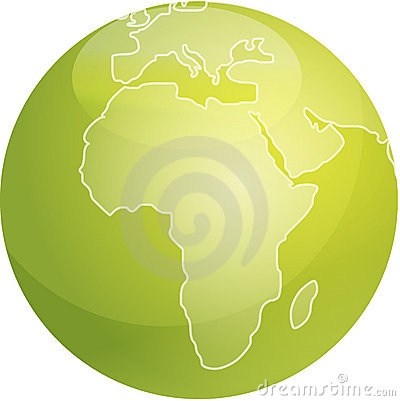 Map of Africa sphere