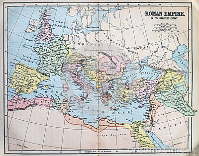 Map of the ancient Roman Empire