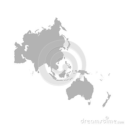 Map of Asia Pacific. - Vector Cartoon Illustration