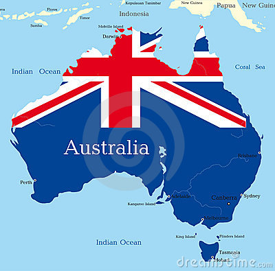Map of australian continent