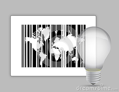Map barcode and lightbulb