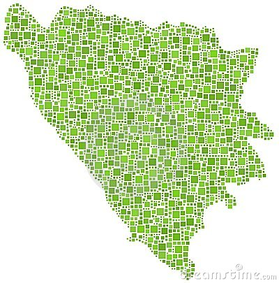 Map of Bosnia Herzegovina