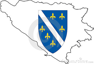 Map Bosnia Herzegovina-Vector