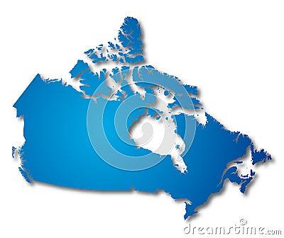 map Canada (vector)