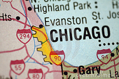 Map of Chicago Illinois