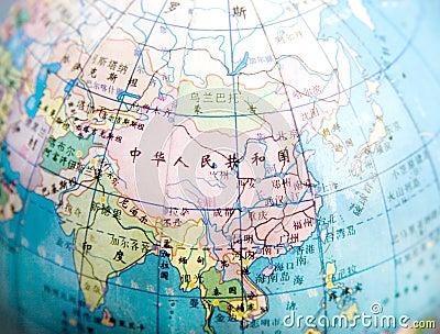 Map of China and around China