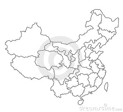 Map of China - blank