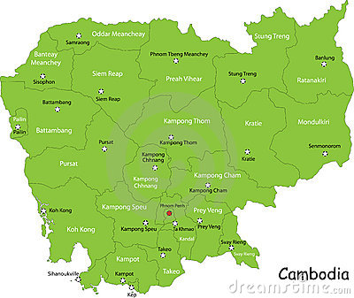 Map of Combodia
