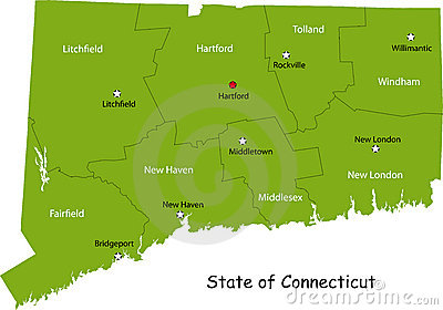 Map of Connecticut state