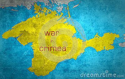 The map of Crimea with the Russian expansion