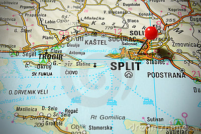 Map of Croatia - Split