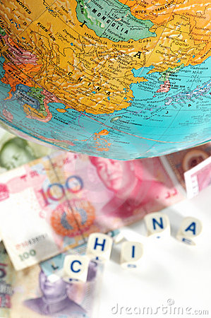 Map And Currencies. Stock Photos - Image: 12593423