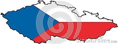 Map Czech Republic-Vector