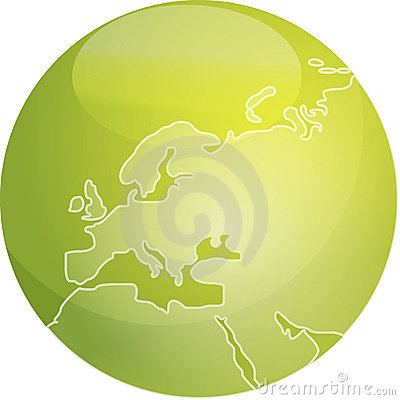 Map of Europe sphere