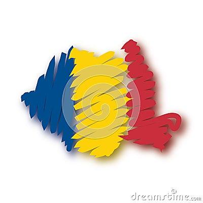 Free Map Flag Romania (vector) Stock Photo - 4839660